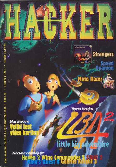 Hacker LBA2 Review 1997-10 [Cover]