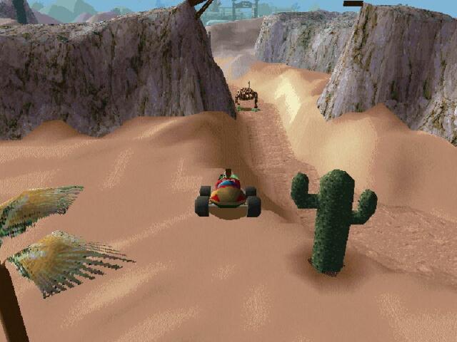 A mech in the desert